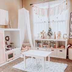 Here's What's Trending in the Nursery this Week - Project Nursery - Christmas Playroom Inspiration Best Picture For kids playroom ideas For Your Taste You are lookin - Little Girls Playroom, Small Playroom, Toddler Playroom, Playroom Design, Toddler Rooms, Playroom Decor, Baby Room Decor, Playroom Ideas, Nursery Ideas