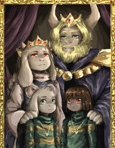 The Dreemurr Family. How serious they look.
