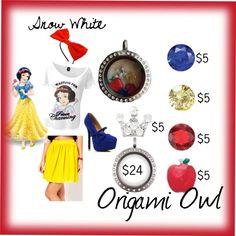 Snow White Origami Owl - Polyvore