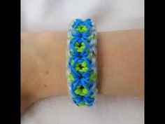 Rainbow Loom ELEGANT X Bracelet. Designed and loomed by Claire's Wears. Click photo for YouTube tutorial. 03/09/14.
