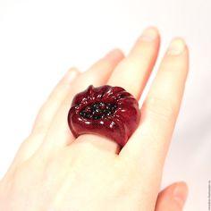 Купить Кольцо из амаранта и граната - бордовый, кольцо, кольцо купить, Кольца на заказ, кольцо с гранатом