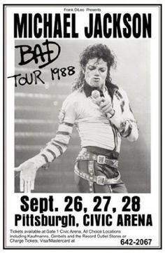 Innerwallz Michael Jackson 1988 Bad Tour Retro Art Print — Poster Size — Print of Retro Concert Poster — Features Michael Jackson, LaVelle Smith, Evaldo Garcia, Randy Allaire and Dominic Lucero Concert Michael Jackson, Michael Jackson Bad Tour, Michael Jackson Poster, Janet Jackson, Rock Vintage, Vintage Music, Tour Posters, Band Posters, Invincible Michael Jackson