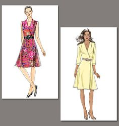 Vogue Patterns 8646 from Vogue Patterns patterns is a Misses' WRAP Dress sewing pattern