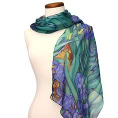 Irises Silk Scarf