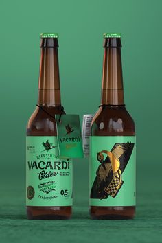 Brand Redesign and Packaging Design for Vacardi Cider / World Brand & Packaging Design Society Beverage Packaging, Bottle Packaging, Brand Packaging, Design Packaging, Product Packaging, Packaging Ideas, Food Packaging, Label Design, Branding Design