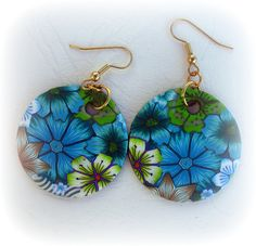 PolymerClay earrings by Liat R, via Flickr