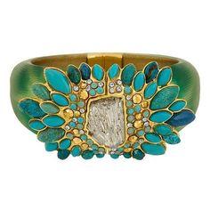 Alexis Bittar Montauk Turquoise Bracelet ❤ liked on Polyvore