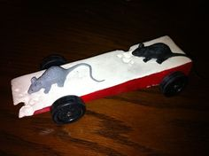 Pinewood Derby Car - Cheese & Mice!
