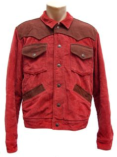 Vintage MARLBORO CLASSICS jacket men's large red by SilhouettesArt, $40.00