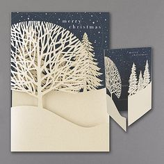 Christmas Treeline - Holiday Card. Available at Persnickety Invitation Studio.