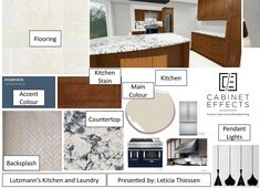 Mood boards are a fantastic way to show the client all the finishes together; bringing the vision for the project at a glance! If you need guidance and perspective from an interior decorator, do not hesitate to call us! Mood Boards, Perspective, Kitchen Design, Interior Decorating, Floor Plans, It Is Finished, Projects, Log Projects, Blue Prints