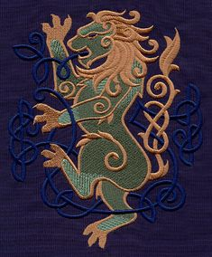 Celtic Majesty Lion | Urban Threads: Unique and Awesome Embroidery Designs
