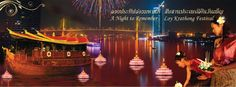 """Montien Riverside Hotel The Full Moon's light on an enchanted evening. Celebrate the ancient Thai tradition of Loy Krathong with """"A Night to Remember Loy Krathong Festival"""" on November 28. 2012    Including International Buffet and Show at Sara Rimnam Montien Riverside Hotel"""