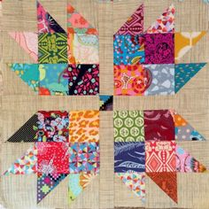 Scrappy Bear Paw from Katy Jones at I'm a Ginger Monkey. Check out Quilt Monkey at qnntv.com for free Katy TV for quilters!