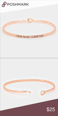 Brand new with tags.  Great to add to your gift. Thin rose gold mom bracelet Farah Jewelry Jewelry Bracelets