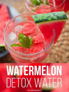 "Health Fitness tips : Illustration Description Watermelon Detox Water and other Top infused water recipes to boost your metabolism ""Life begins at the end of your comfort zone"" ! -Read More – Sugar Detox Plan, Sugar Detox Recipes, Sugar Detox Diet, Clean Eating Recipes, Detox Water To Lose Weight, Detox Water For Clear Skin, Healthy Detox, Healthy Drinks, Yummy Drinks"