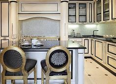 Elegant black and white kitchens - Yahoo! Image Search Results