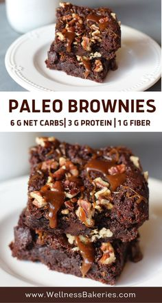 Learn how to make bakery-style paleo and low carb brownies! Paleo Brownies, Best Brownies, Gluten Free Baking, Healthy Baking, Baking Tips, Baking Recipes, Keto Chocolate Recipe, Clean Eating Recipes, Food Processor Recipes