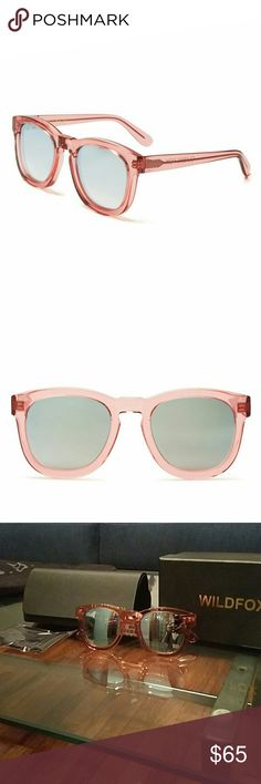 Wildfox Rosewater Sunglasses Brand new Wildfox shades. Color : Rosewater/Silver Gradient Mirror. Cloth, box and case included Wildfox Accessories Sunglasses