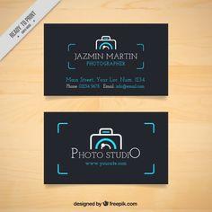foto estudio Tarjeta oscura con el logotipo de la cámara Vector Gratis