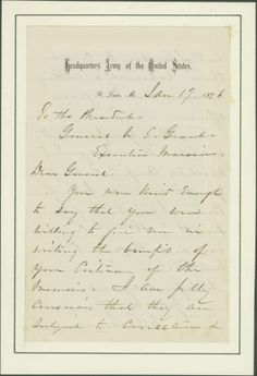 Letter from W.T. Sherman, St. Louis, Missouri, to U.S. Grant