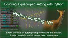 Maya Python Quadruped Autorig