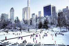 New York City Christmas - Ice Skating in Central Park