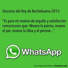 Chistes de WhatsApp: Discurso del Rey de Nochebuena