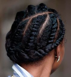 Vintage Flat Twists Updo