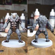 Conan Boardgame- Gray Ape Man - Monster #painting #paintingminiatures #citadel #monolith #conan #princeaugust