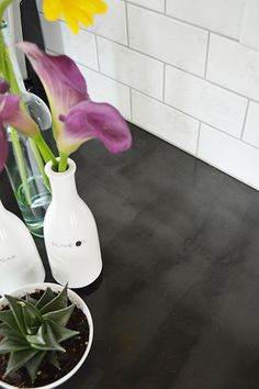 Do it yourself faux concrete countertops made with Ardex Feather Finish