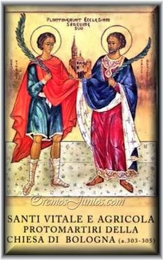 Lesson 9 from the Divine Office for Saints Vitalis and Agricola, Martyrs: . Vitalis was a slave, and Agricola his owner. Saints, Spirituality, Lesson, Maria, Catholic Saints, Catholic, Divine, Christianity, Martyrs