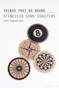 DIY Coasters DIY Stenciled Cork Coasters DIY Coasters