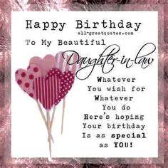 Daughter-in-law Birthday