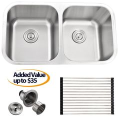 40 best 50 best double bowl kitchen sink images double bowl rh pinterest com