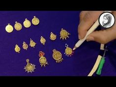 8 Different Ways to Stitch Lakshmi coin Work Hand Embroidery Dress, Hand Embroidery Videos, Aari Embroidery, Hand Work Blouse Design, Fancy Blouse Designs, Bead Embroidery Tutorial, Bead Embroidery Patterns, Peacock Embroidery Designs, Saree Tassels Designs