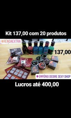 e0ef822c94 Pequeno investimento de 137,00 com 20 produtos como: géis,  raspadinhas,dadinhos