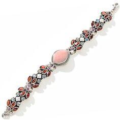 """Nicky Butler """"RAJ"""" Pink Chaceldony Bracelet Limited Edition 3/300"""