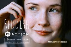 Reddish Lite Photoshop Action will provide a subtle film-like processing and saturated colors in the shadows. Natural toning for portrait …