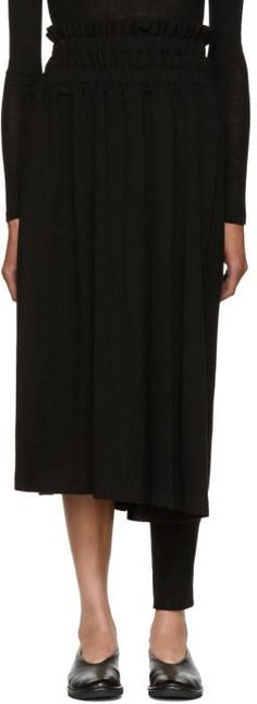 Nocturne 22 Black Asymmetric Skirt Trousers