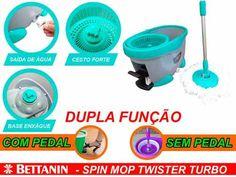 Spin Mop Balde Com Pedal Rodo Mágico Grátis 1 Refil Esfregão - R$ 179,00 no MercadoLivre