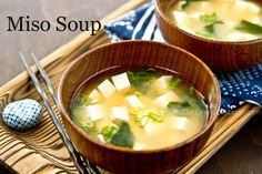 Simple and savory tofu miso soup made with dashi stock, wakame (Japanese seaweed), and tofu.