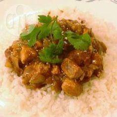 Frango aromático ao curry