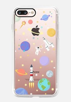 Casetify iPhone 6 New Standard Case - Space rocket for classic snap case by Marta Olga Klara Cool Phone Cases, Iphone 7 Plus Cases, Iphone 8, Apple Watch Iphone, Just In Case, Space Rocket, Tech Accessories, Casetify, Classic