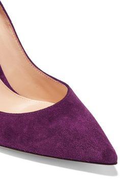 Gianvito Rossi - Suede Pumps - Purple - IT40.5