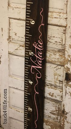 Premium wide ruler growth chart The Natalie by back40life on Etsy