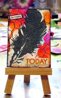 Be happy today ATC - Glenda Tkalac