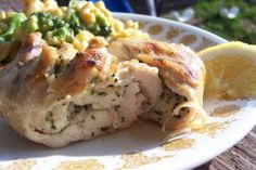 Basil & Garlic-Stuffed Chicken