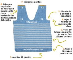 chaleco con cuello en V para niños - knitted vest for kids