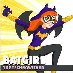 """Batgirl at Super Hero High"" Thinks its Way to the Top! Dc Heroes, Comic Book Heroes, Comic Books Art, Logo Superman, Super Hero High, Girl Superhero Party, Barbara Gordon, Wonder Woman, Held"